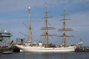 Segelschulschiff Gorch Fock Marinestützpunkt Kiel
