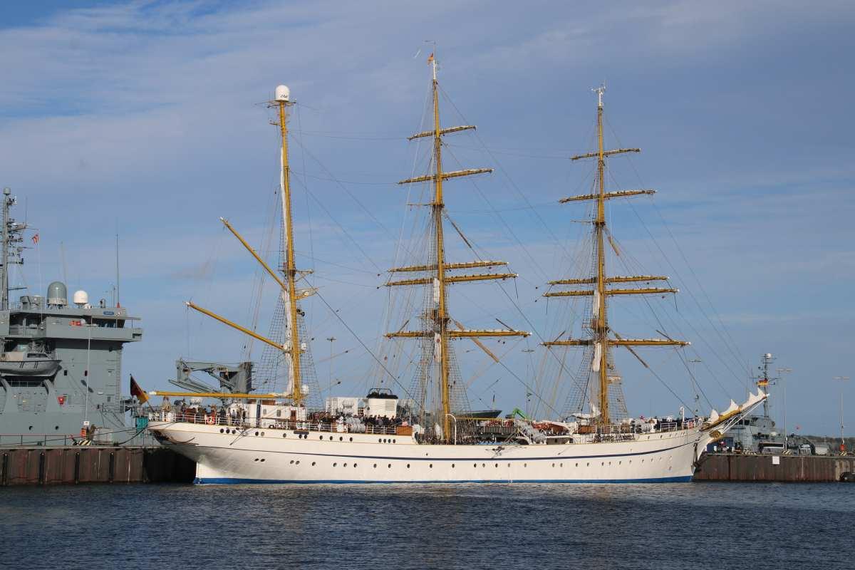 Segelschulschiff an der Gorch-Fock-Mole Kiel