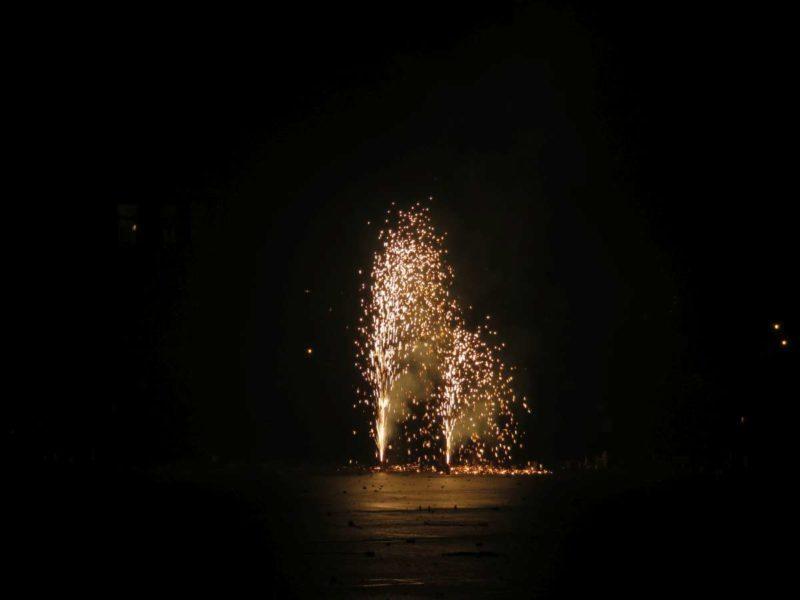 Silvester Mini-Feuerwerk Fontäne