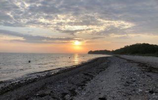 Sonnenaufgang an der Ostsee in Lindhöft