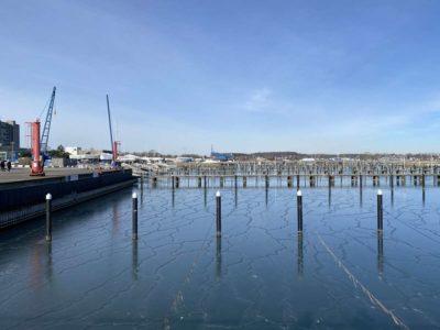 Sporthafen Schilksee Winter 2021