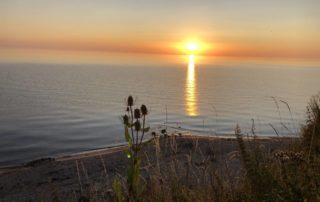 Sonnenaufgang Ostsee Steilküste Stohl