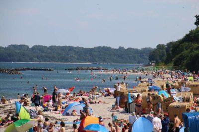 Strand Schilksee Sommer in Kiel