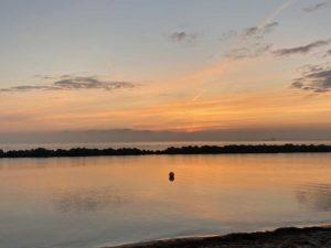 Schilksee Strand Sonnenaufgang Kieler Förde