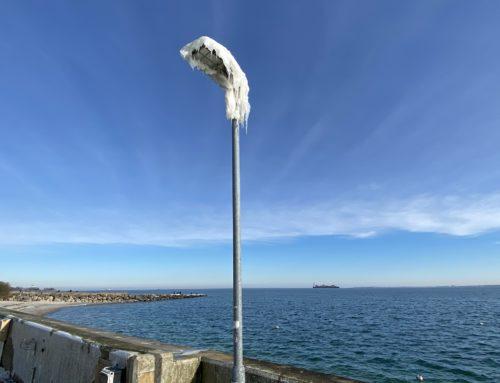 Ostseebad Strande bei Kiel: Winter & Eis im Strander Hafen