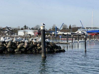 Strande Hafen Steinmole