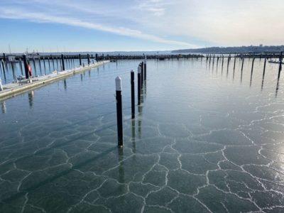Liegeplätze Hafen Ostseebad Strande Winter