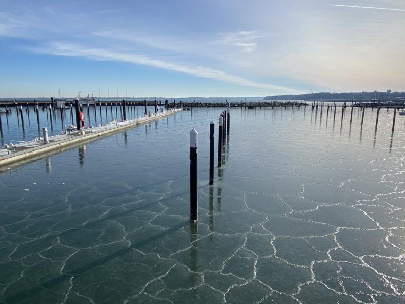 Hafen Strande Liegeplätze Winter