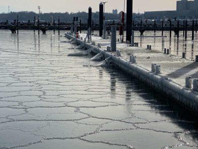 Hafen Strande Liegeplätze Winter & Eis