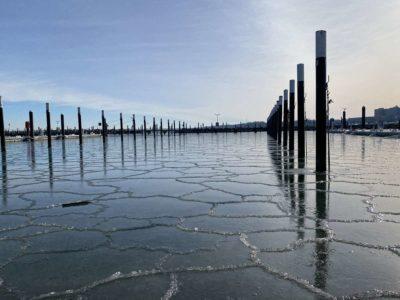 Hafen Strande Liegeplätze Winter 14.02.2021