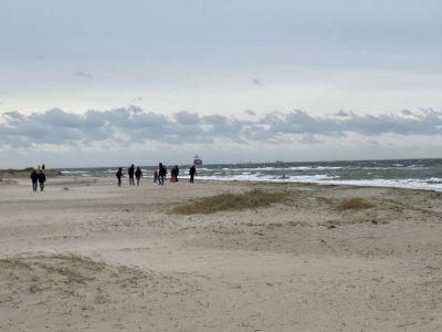 Falckensteiner Strand Wintersturm Februar 2021