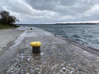 Tiessenkai Holtenau Hochwasser & Sturm Februar 2021