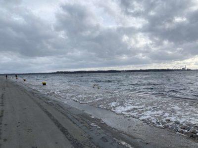 Tiessenkai Holtenau Hochwasser