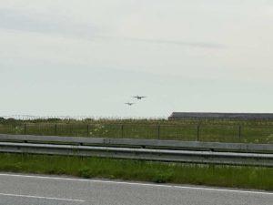 Transall Transportflugzeug Tiefflug Flughafen Kiel