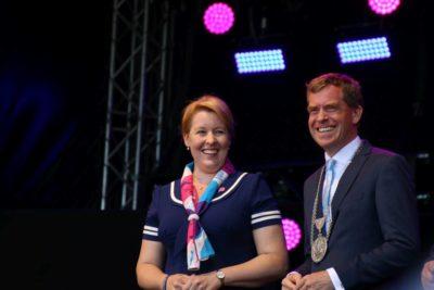 Oberbürgermeister Ulf Kämpfer & Familienministerin Franziska Giffey