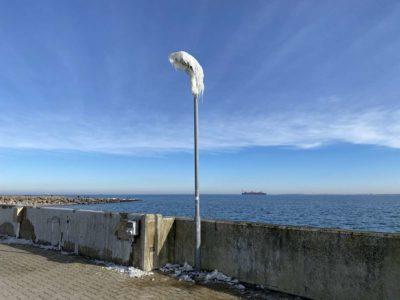 Laterne mit Eis Hafen Strande Ostsee