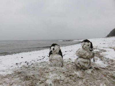 Winter an der Ostsee am Strand Dänisch-Nienhof